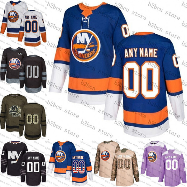 2018 Custom Mens Women Jugend New York Islanders Mathew Barzal Anders Lee Ryan Pulock Jede Name Nummer Eishockey Jersey genäht Größe S-3XL