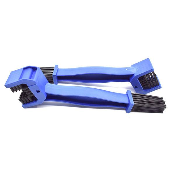 Rueda de Coche Bicicleta Neum/ático Cepillo de Limpieza Cadena de Bicicleta Engranaje Lavado Cepillo Limpiador-Azul
