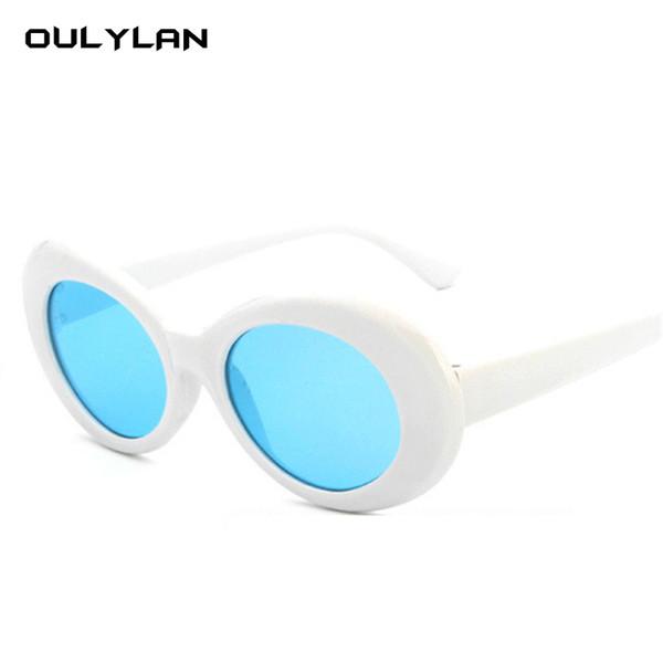 OULYLAN Women Men Clout Goggles NIRVANA Kurt Cobain Round Sunglasses Brand Designer Mirrored Glasses Female Male Sun Glasses