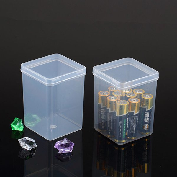 Transparent Plastic Small square Boxes ,Packaging storage box , with lid for jewelry box Accessories Battery case F20173138