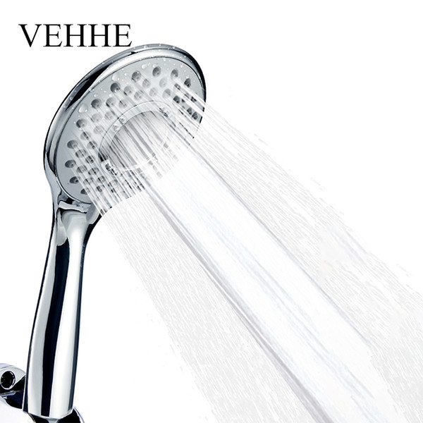 VEHHE Adjustable Spray Nozzle Silica Gel Holes Water Saving Shower Head Electroplate Squeeze Clean Bathroom Accessories VE202