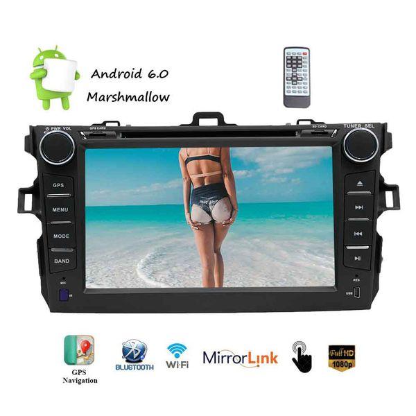 Android6.0 Car DVD Player no Tablier GPS de navegação estéreo Quad core Dupla 2din Veículos de Rádio De Vídeo De Áudio De Entretenimento FM / AM Rádio RDS