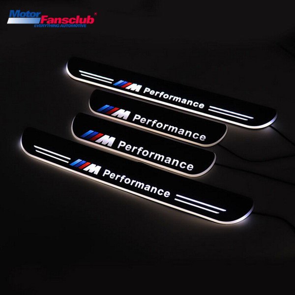 4Pcs LED Car Moving Light Nerf Bar Scuff Plate Pedal for BMW F10 F18 5series 2010-2015 Tirm Door Sill Pathway Guards Welcome