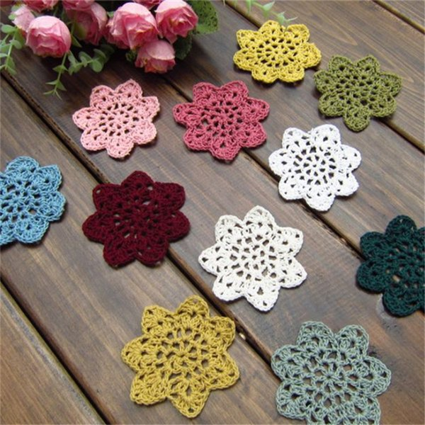 Cup Mats Pads Decoration Starbucks Cotton Coaster Round Placemat Mug Coffee Milk Cup Insulation mat Pads 300pcs T1I938