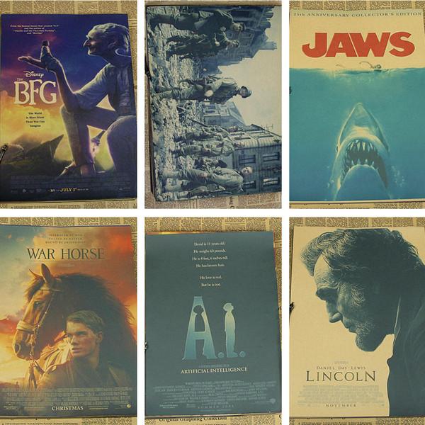 Spielberg retro kraft paper  jaws artificial intelligence terminal JAWS