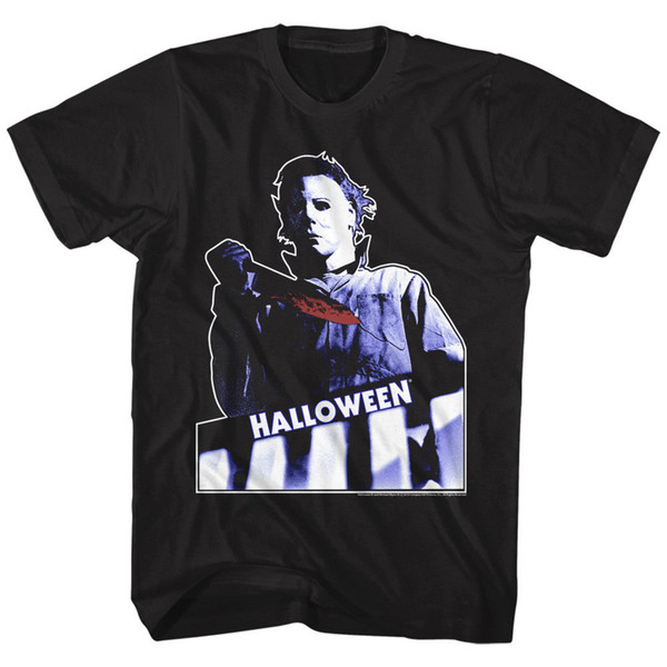 T-Shirt Halloween New SCARY TOP FLOOR In 100% cotone nero T-shirt a manica corta da uomo in cotone classico tondo