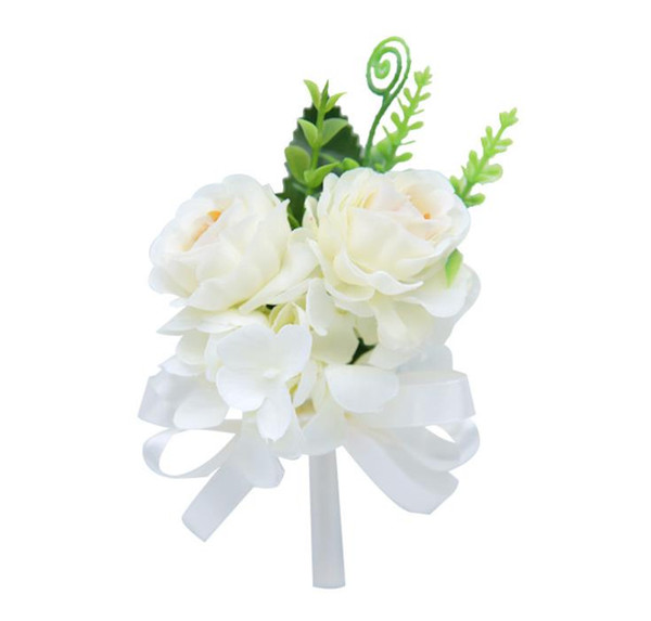 Flor artificial coreana broche de peonía flor broche versión coreana de hombres y mujeres broche de aguja larga boda nupcial ramo