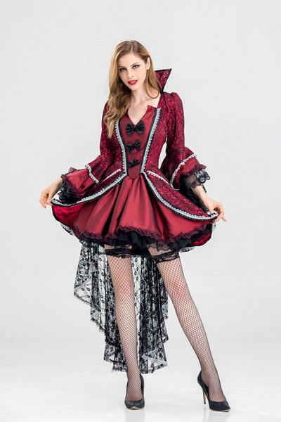Freies Schiff heiße Typen, Halloween sexy Hexe Outfit Erwachsene, Gericht Ball Königin Kostüm Hexe Spiel Anzug, Europa und Amerika Vampir Kostüm