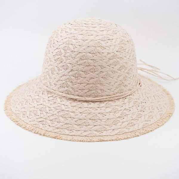 EPU-MH1847 Loose Edge Paper Straw Elegant Lady Fashion Hat Baby Summer Vogue Crochet Bucket Hat for Woman