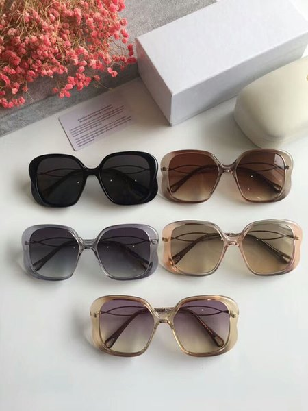 New Fashion Designer Sunglasses CE740S model full frame uv400 Super light Plank with gem high quality with original box