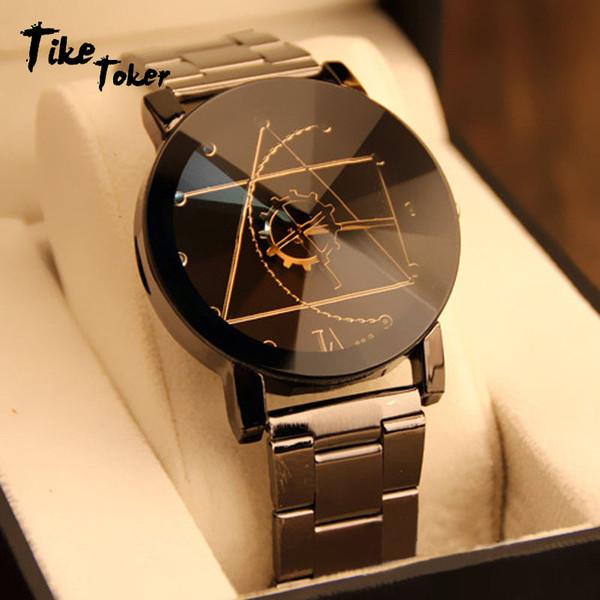 TIke Toke, Luxury Couple Watch Fashion Stainless Steel Watch for Man Quartz Analog Wrist Orologio Uomo Hot Sales 2017 New