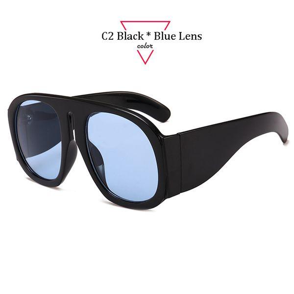 C2 Black Frame Blue Lens