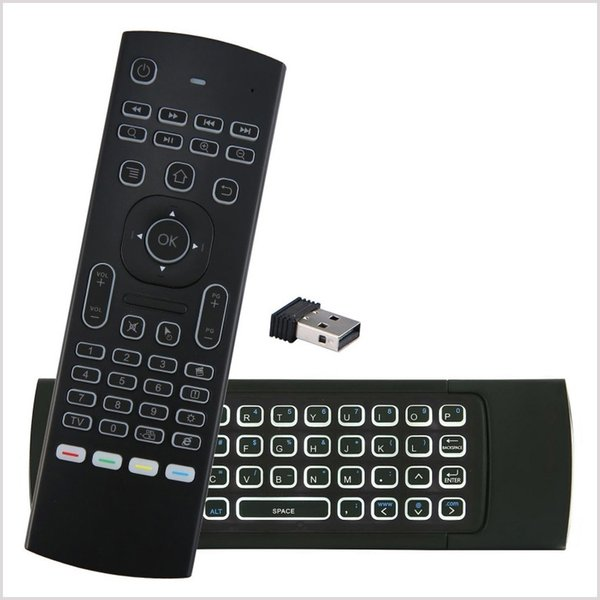X8 Подсветка MX3 Мини-Клавиатура С ИК Обучением Qwerty 2.4G Беспроводной Пульт Дистанционного Управления 6-осевой Fly Air Mouse с подсветкой Gampad Для TV Box MQ20