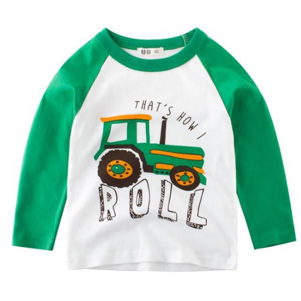 7a8452766b Atacado New Fashion Outono Baby Boy Camisa das Crianças de Manga Longa  Impressão Do Carro T