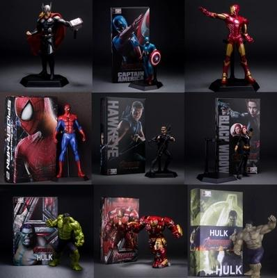 Diffuse wei avengers alliance iron man captain America the thor, green giant spider man hand model doll furnishing articles