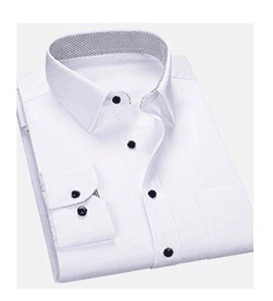 New Style Cotton White Men Wedding/Prom/Dinner Groom Shirts Wear Bridegroom Man Shirt ( 37--46 )