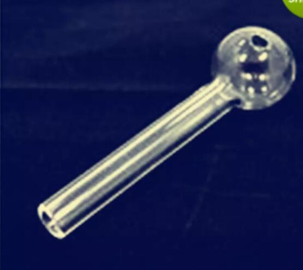 10 cm Atacado Tubo de Queimador De Óleo De Vidro Pirex Tubo De Vidro De Vidro Claro Queimador de Óleo Tubo de Vidro Prego Óleo Grosso Claro Glasses88