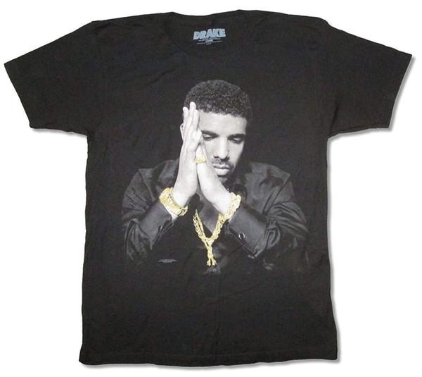Drake Gold Ring Watch Cadenas Imagen Camiseta negra Camiseta adulta Camiseta top de moda