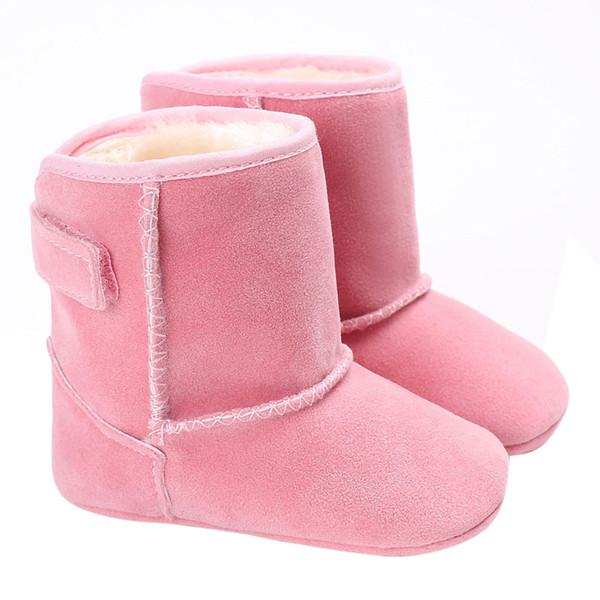 Schnell verkaufend !! 2017 Winter haken schleife Schwarz Braun rosa Weiß Rot Stiefel Warme baby kleinkind säugling Schnee Stiefel Wohnungen Schuhe # JY