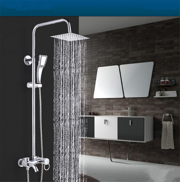 """top popular 1PCS 8"""" Stainless Steel Square Shower Head Over-head Shower Sprayer Top Head Chrome Finish 2019"""
