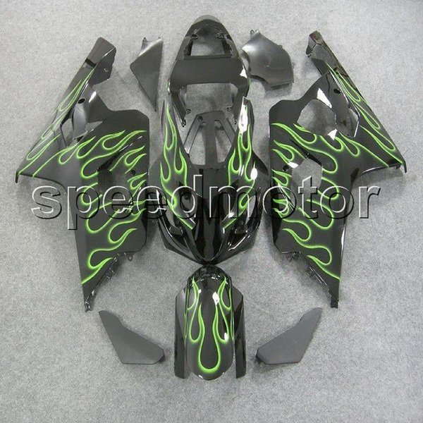 23colors+Gifts green flames motorcycle cowl Fairing for Suzuki GSXR600/750 2004-2005 GSXR750 GSX-R600 K4 04 05 ABS plastic kit