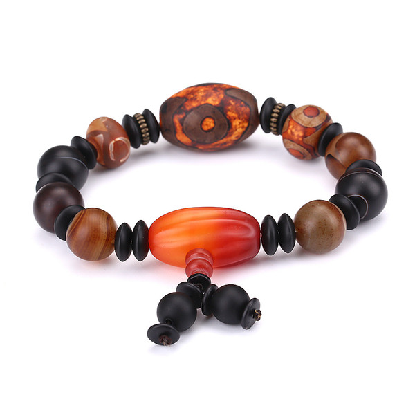 New Bracelets Men Wristband Natural Stone Bracelet Certified Level Power Chakra Healing Round Balance Beads One Direction Charms