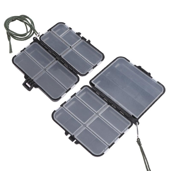 Boxes 11/9 Compartments Fishing Tackle Box Double Sided ABS Lure Bait Storage Box Portable Fishing Accessories Tackle Boxes w/ String