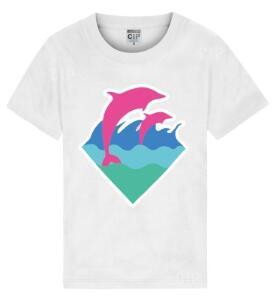Man Brand Clothing Male hip hop dolphin cotton new summer cotton short-sleeved T-shirt. Round collar leisure printing short sleeves