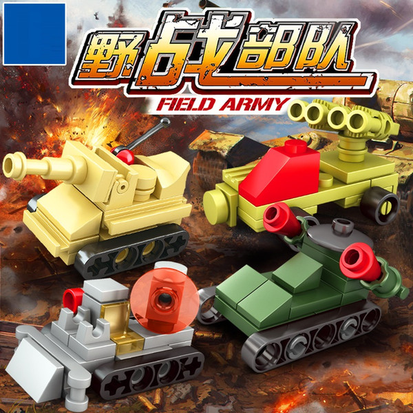 8pcs/lot Construction car Military Wolf Tooth Field Army Building Blocks military minifigures Toys for Children 3D DIY for Gifts CF-006