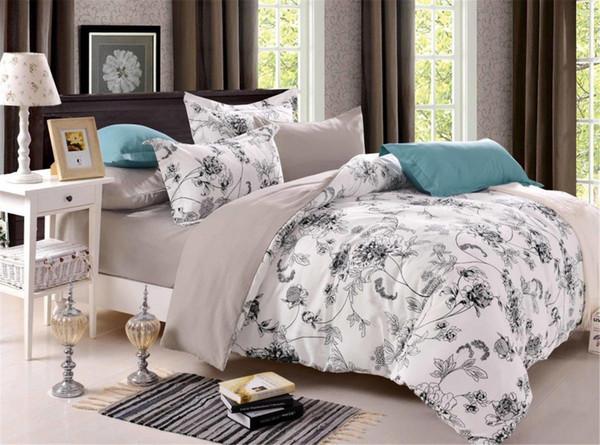 Großhandel Classic Heimtextilien Dark Color Blumen Serie Bettwäsche 3 /  Bettwäsche Sets Baumwolle Bed Set Bettbezug Bettlaken Mans Cover Set Von ...