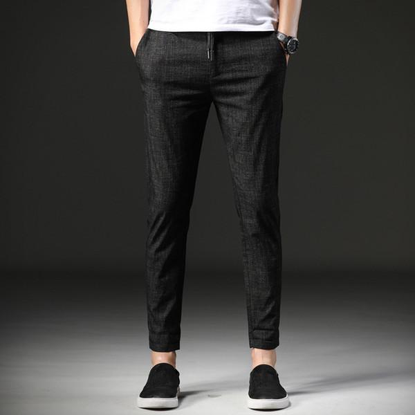 59d993cd5c36 Pantaloni da uomo Pantaloni alla caviglia Elastico in vita elasticizzata  con cordino dritto Pantaloni casual da