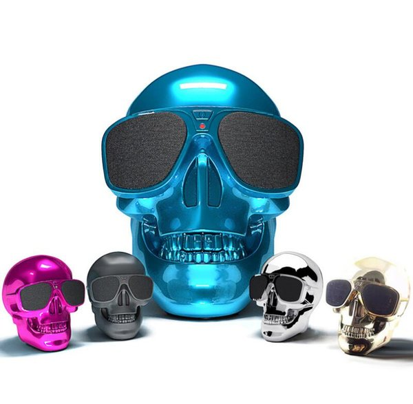 NFC Bluetooth Speaker Sunglass Skull Head Portable Wireless Mobile Loud Subwoofer 8W Super Bass USB Aux In 3.5mm Audio Jack Cool