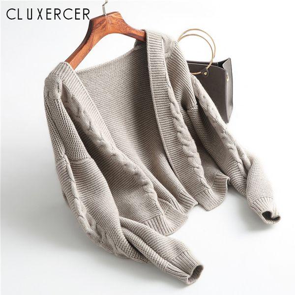 Winter Fashion Women 2018 New Female Knit Sweater Cardigan Coat Short Lady Thicken Little Shawl Jacket cardigan mujer