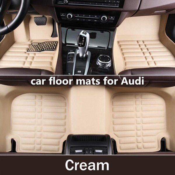 best selling TENGRUI Car-Styling Carpet Custom Car Floor Mats for Audi A1 A3 A4 A4l A5 A6 A6L A7 A8 Q3 Q5 Q7 S and RS series car mats
