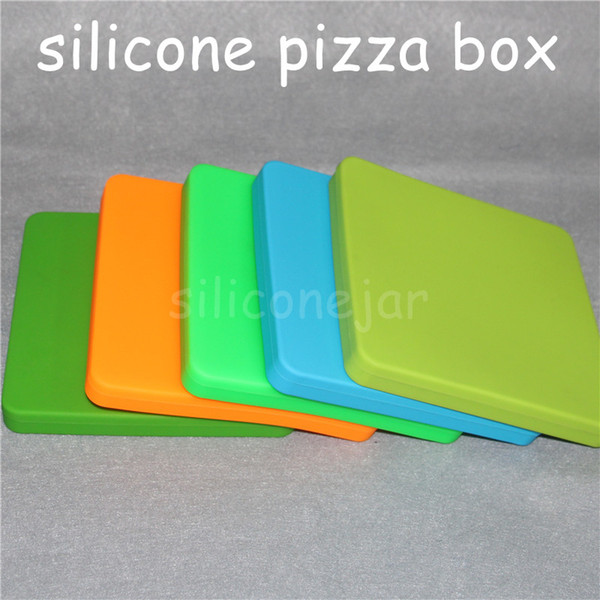 1pc 200ml Nonstick Wax Containers Silicone Pizza Concentrate Square Big BHO Oil Jars Dishes Dab Mats Dry Herb Vape Water Pipes Large Jar