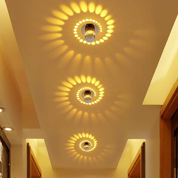 Modern LED Tavan Işık Sanat Galerisi için 3 W RGB duvar Aplik Dekorasyon Ön Balkon lambası Sundurma ışık koridorları Işık Fikstür