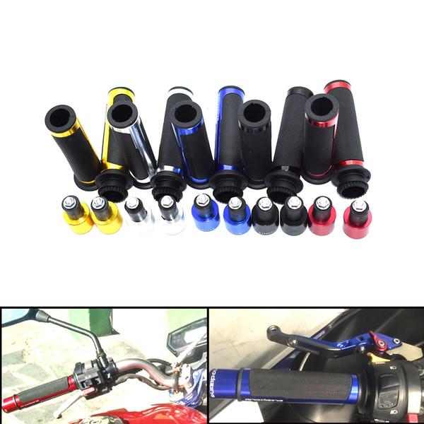 For CNC 8 color 7/8 '' handlebar handlebar Motorcycle Grips Universal Kit 22mm Street & Racing Moto Racing Grips with ends