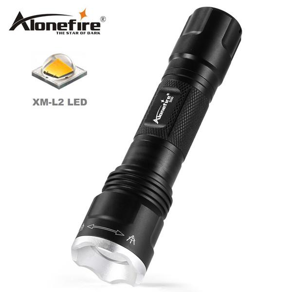 AloneFire X550 Mini Zoom Lampe de Poche CREE XM-L2 Led Ampoule Camping Extérieure Torch Nuit Lampe de Poche