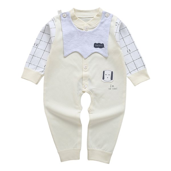 1d2b084b60e0 Wholesale 2018 new baby onesies spring and autumn cotton long-sleeved  newborn clothes romper female pajamas male baby clothing jumpsuits