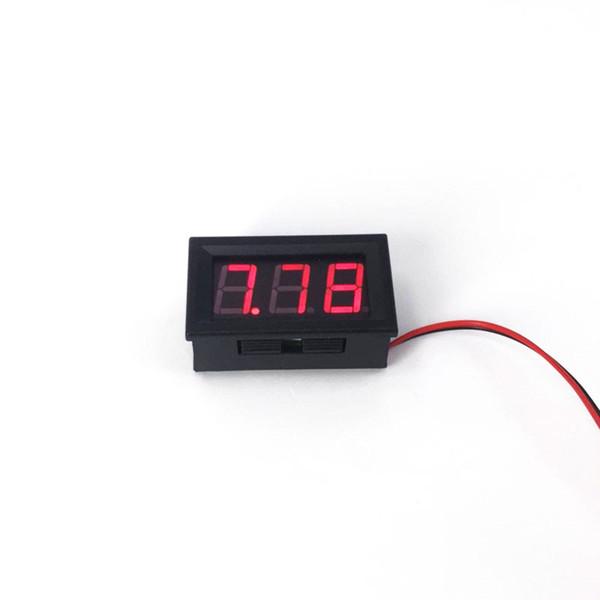 best selling 0.56 Inch DIY Mini Voltmeter Tester Digital Voltage Test Battery DC 4.5-30V Red Green Blue for Auto Car LED Display Gauge Car Accessories