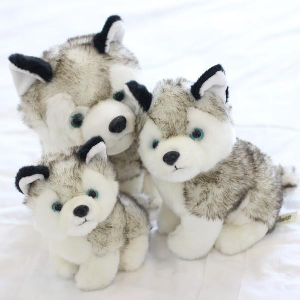 2018 perros husky juguetes de peluche animales de peluche juguetes pasatiempos 7 pulgadas 18 cm Rellenos Más Animales Agregar a la lista de las Categorías