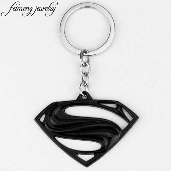 Keychain Superhero S Logo Zinc Alloy Keyring Gold Silver Black Color Key Chain For Fans Fashion Jewelry Accessories