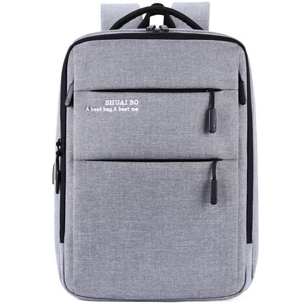 Homem de negócios USB Carga Mochila À Prova D 'Água Oxford Material almofada de ar Portátil de Volta pacote de grande Capacidade saco Para Viagens