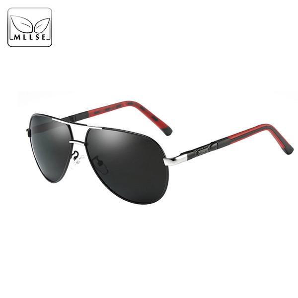 MLLSE Brand Men Sunglasses HD Polarized Upmarket High quality Sun Glasses Aluminium Magnesium Frame Men Sunglasses