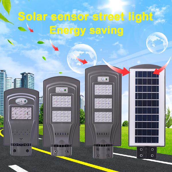 Novo Estilo Luzes LED Solar Rua 20 W 40 W 60 W (Sensor Radar + Sensor De Fotocélula) Led Luzes Steet Lâmpadas Led Ao Ar Livre À Prova D 'Água