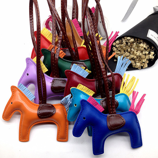 PU Leather keychain pendant Animal Key Chain Women Bag Backpack Handbag Keychain Charm Pendant Accessories toy KKA7621
