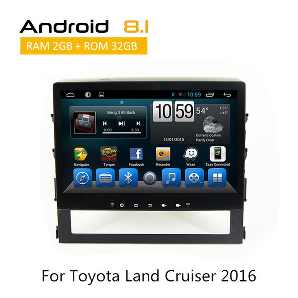 10 Inch Quad core Android6.0 Touch Screen for Toyota Land Cruiser 2016 CAR DVD Stereo GPS Navi Android with bluetooth Wift 3G