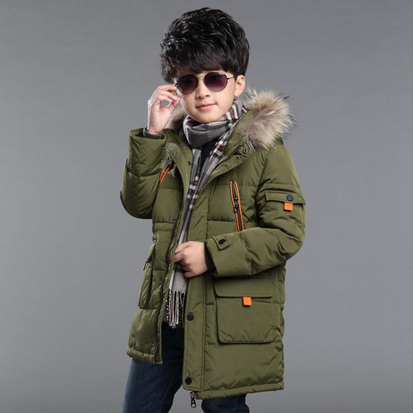 Yeni Erkek Kış Ceket Kalınlığı Fermuar Çocuk Kış Coat Winterjas Jongen Boys Ceket 6WBT030