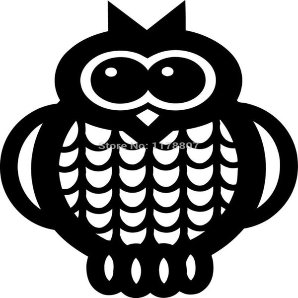 HotMeiNi Wholesale 20pcs/lot Owl Sticker For Car Rear Windshield Truck SUV Auto Laptop Kayak Canoe Art Wall Die Cut Vinyl Decal 8 Colors