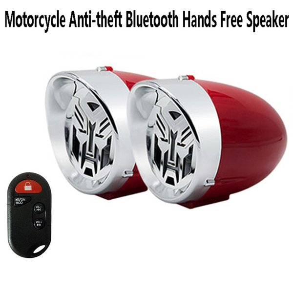 top popular 3 inch Waterproof Motorcycle Stereo Speaker Bluetooth Hands free Anti-theft Alarm Amplifier Hi-Fi Sound MP3 Car FM Radio 2021